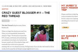 Crazy guest blogger
